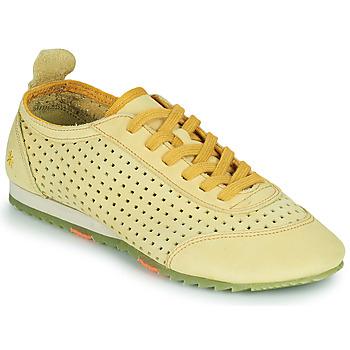 Schuhe Damen Sneaker Low Art KIOTO Gelb
