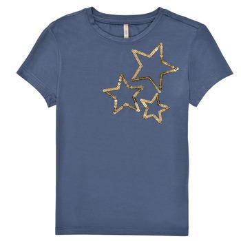 Kleidung Mädchen T-Shirts Only KONMOULINS STAR Blau