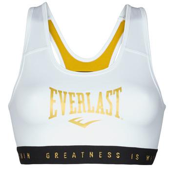 Kleidung Damen Sport BHs Everlast EVL BRAND BR Weiss / Goldfarben
