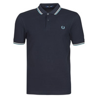 Kleidung Herren Polohemden Fred Perry TWIN TIPPED FRED PERRY SHIRT Marine / Weiss / Blau