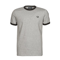 Kleidung Herren T-Shirts Fred Perry TAPED RINGER T-SHIRT Grau
