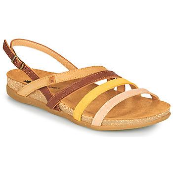 Schuhe Damen Sandalen / Sandaletten El Naturalista ZUMAIA Braun / Gelb / Rose