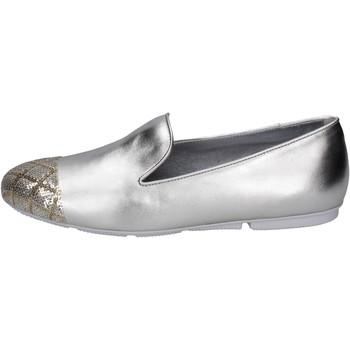Schuhe Damen Slipper Hogan BK669 Platin