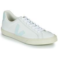 Schuhe Damen Sneaker Low Veja ESPLAR LOGO Weiss / Blau