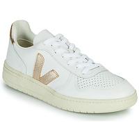 Schuhe Damen Sneaker Low Veja V-10 Weiss / Gold