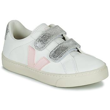 Schuhe Mädchen Sneaker Low Veja SMALL ESPLAR VELCRO Weiss / Gold