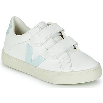 Schuhe Mädchen Sneaker Low Veja SMALL ESPLAR VELCRO Weiss / Blau / Rot