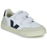 Schuhe Jungen Sneaker Low Veja SMALL V-12 VELCRO Weiss / Blau