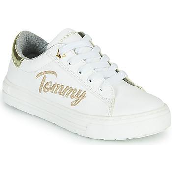 Schuhe Mädchen Sneaker Low Tommy Hilfiger SOFI Weiss