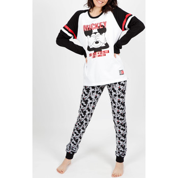 Kleidung Damen Pyjamas/ Nachthemden Admas Innenanzug Pyjamahose Mickey weiß Weiß