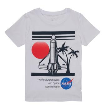 Kleidung Jungen T-Shirts Name it NASA Weiss