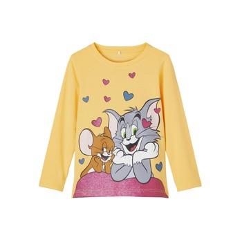 Kleidung Mädchen Langarmshirts Name it TOM&JERRY Gelb