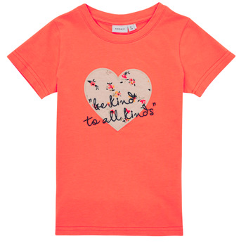 Kleidung Mädchen T-Shirts Name it NMFDELFIN TOP Korallenrot