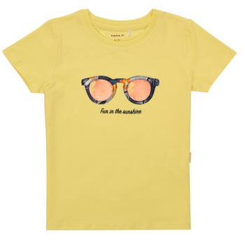 Kleidung Mädchen T-Shirts Name it NMFFISUMMER Gelb