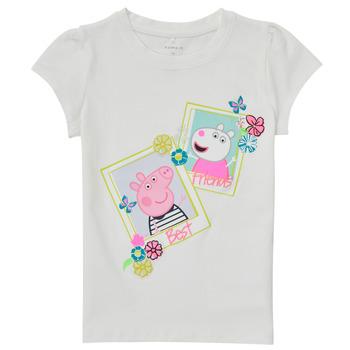 Kleidung Mädchen T-Shirts Name it PEPPAPIG Weiss