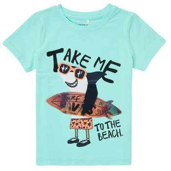 Kleidung Jungen T-Shirts Name it NMMFANO Blau