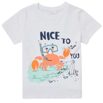 Kleidung Jungen T-Shirts Name it NMMFANO Weiss