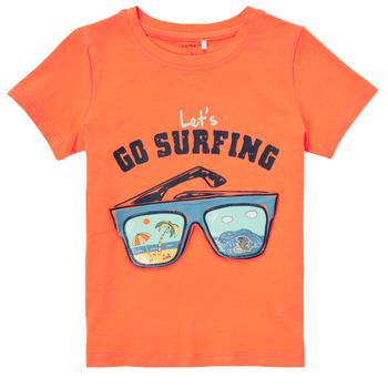 Kleidung Jungen T-Shirts Name it NMMFANO Orange
