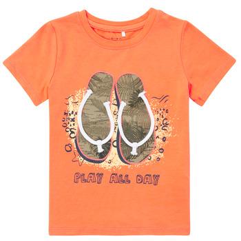 Kleidung Jungen T-Shirts Name it NMMFASHO Orange