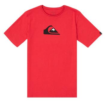 Kleidung Jungen T-Shirts Quiksilver COMP LOGO Rot
