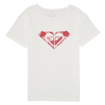 Kleidung Mädchen T-Shirts Roxy DAY AND NIGHT PRINT Weiss