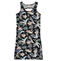 Kleidung Mädchen Kurze Kleider Roxy FLOWER SHADOW DRESS Schwarz