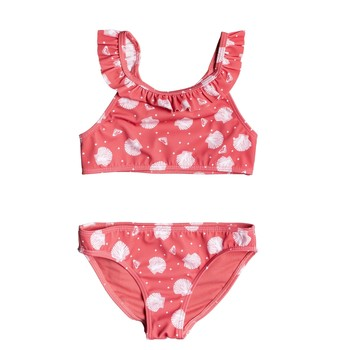 Kleidung Mädchen Bikini Roxy TEENY EVERGLOW CROP TOP SET Rose