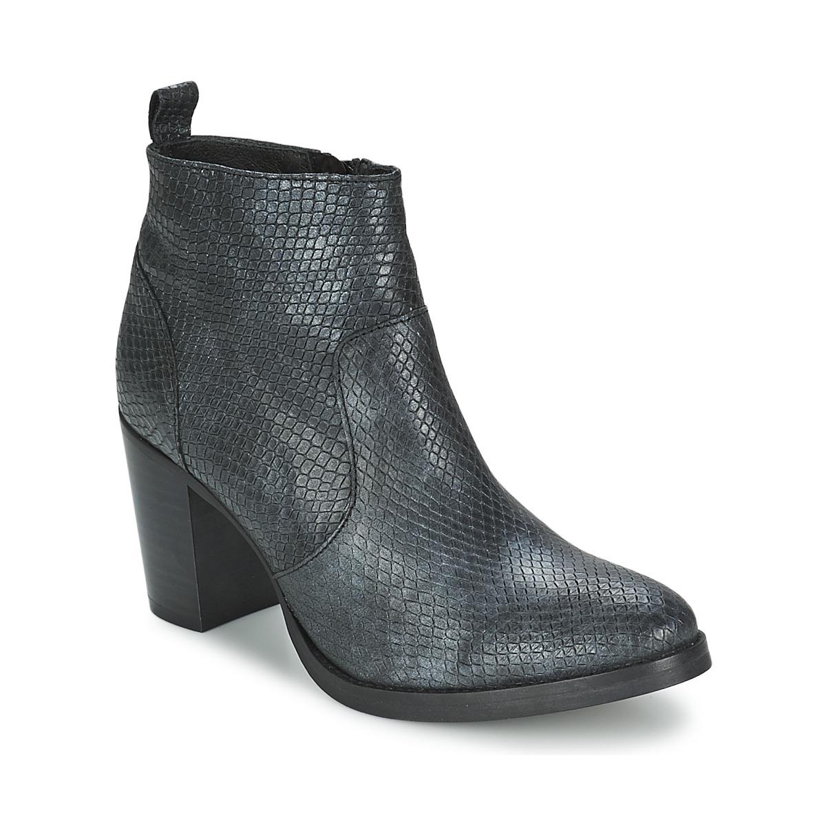 Betty London ISSOR Schwarz - Kostenloser Versand bei Spartoode ! - Schuhe Low Boots Damen 62,50 €