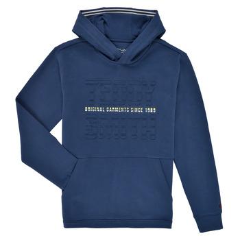 Kleidung Jungen Sweatshirts Teddy Smith S-RUN HOODY Marine