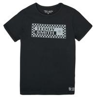 Kleidung Jungen T-Shirts Teddy Smith T-VANY Schwarz