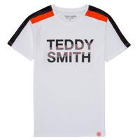 Kleidung Jungen T-Shirts Teddy Smith T-MACK Weiss