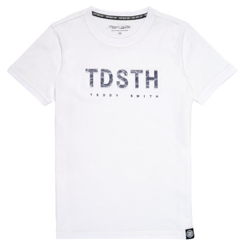 Kleidung Jungen T-Shirts Teddy Smith T-MAX Weiss