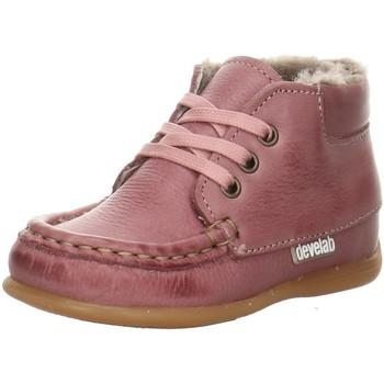 Schuhe Mädchen Babyschuhe Develab Maedchen Baby Mocc. 46099-472 rosa