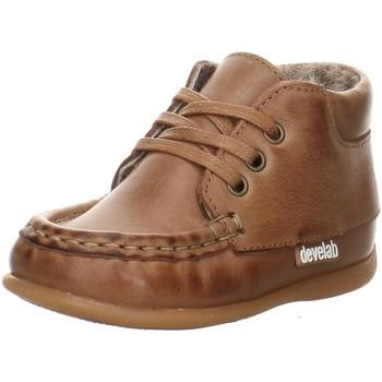 Schuhe Mädchen Babyschuhe Develab Maedchen Baby Mocc. 46099-722 braun