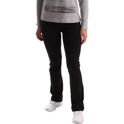 Kleidung Damen Jogginghosen Key Up 5LI20 0001 Schwarz