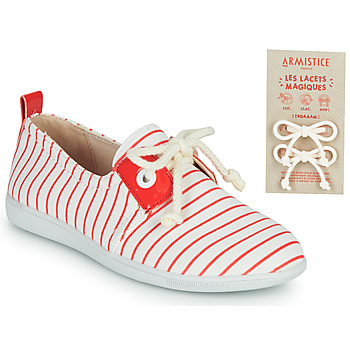 Schuhe Kinder Sneaker Low Armistice STONE ONE Weiss / Rot