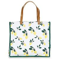 Taschen Damen Shopper / Einkaufstasche Petite Mendigote CLEA LEMON Weiss