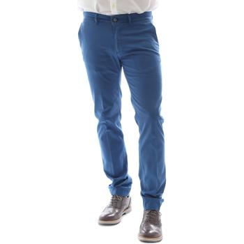 Kleidung Herren Chinohosen Sei3sei 6DAYTONA E1649 Blau
