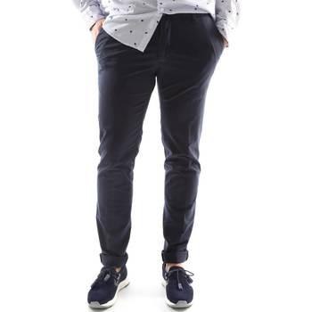 Kleidung Herren Chinohosen Sei3sei 6OYSTER E1669 Blau