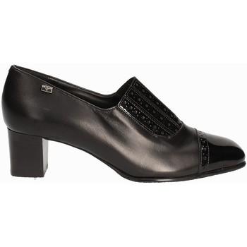 Schuhe Damen Slipper Valleverde V12024 Schwarz