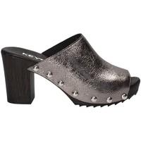 Schuhe Damen Pantoffel Keys 5868 Grau