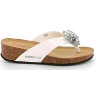 Schuhe Damen Zehensandalen Grunland CB2482 Weiß
