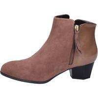 Schuhe Damen Low Boots Hogan BK688 Braun