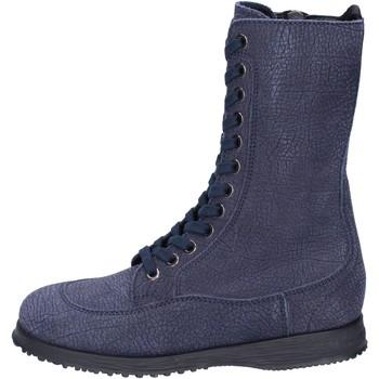 Schuhe Damen Low Boots Hogan BK692 Blau