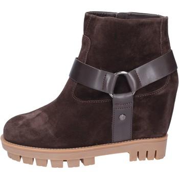 Schuhe Damen Low Boots Hogan BK694 Braun