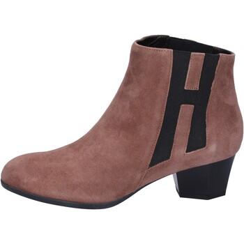 Schuhe Damen Low Boots Hogan BK699 Braun