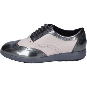 Schuhe Damen Richelieu Hogan BK703 Grau