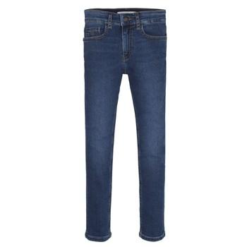 Kleidung Jungen Röhrenjeans Calvin Klein Jeans ESSENTIAL ROYAL BLUE STRETCH Blau