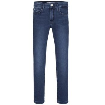 Kleidung Mädchen Röhrenjeans Calvin Klein Jeans SKINNY ESS ROYAL BLUE Blau