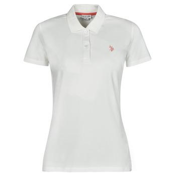 Kleidung Damen Polohemden U.S Polo Assn. LOGO POLO SS Weiss